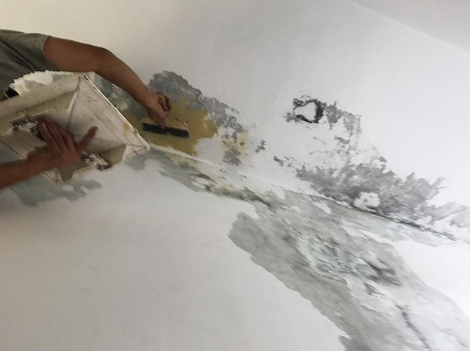 東京都千代田区マンションの内部塗装工事の施工前