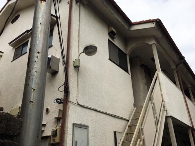 東京都豊島区アパートの外壁塗装・付帯部塗装工事の施工前