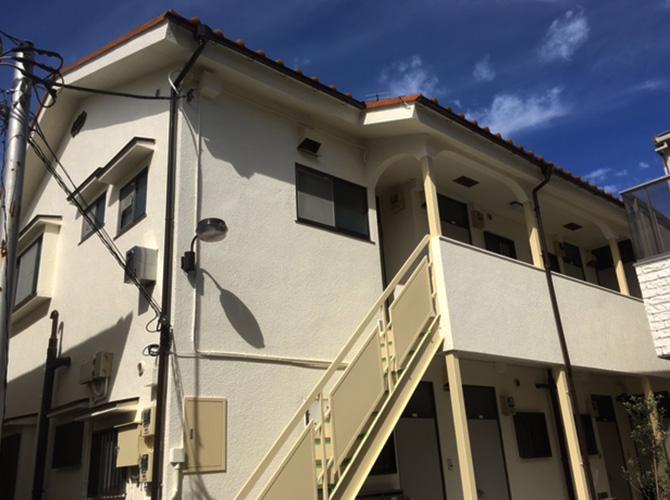 東京都豊島区アパートの外壁塗装・付帯部塗装工事の施工後