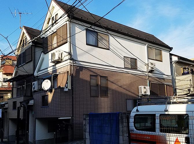 東京都練馬区の外壁塗装・屋根塗装工事の施工前
