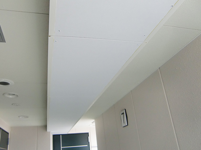 東京都墨田区新築マンションの天井塗装工事の施工前