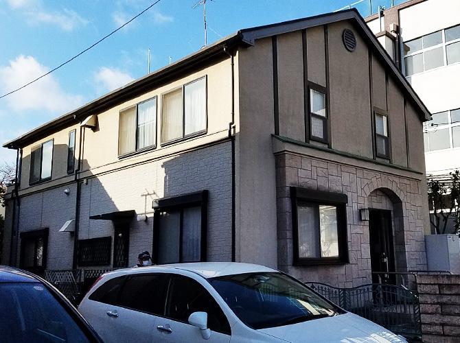 東京都足立区西新井の外壁塗装・屋根塗装工事の施工前