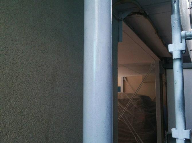 雨樋の塗装完了後
