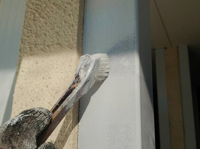 鉄柱の塗装