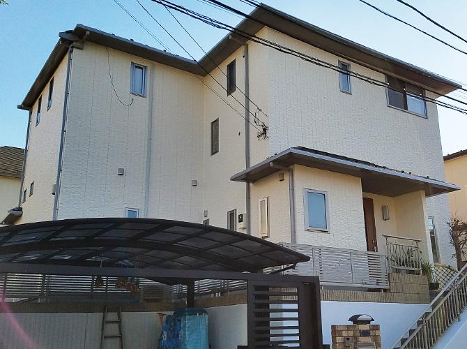 神奈川県川崎市の外壁塗装・屋根塗装工事の施工後