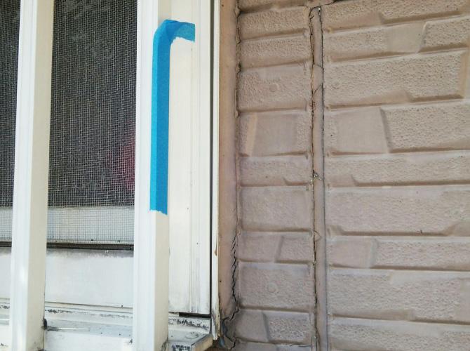 窓まわりの施工前