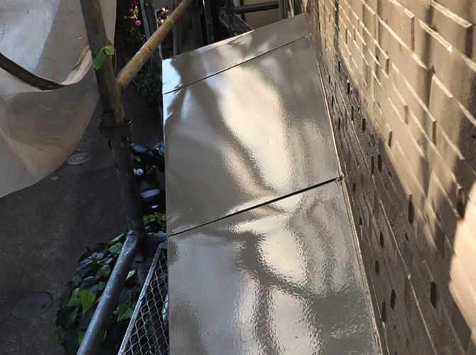庇の塗装完了後
