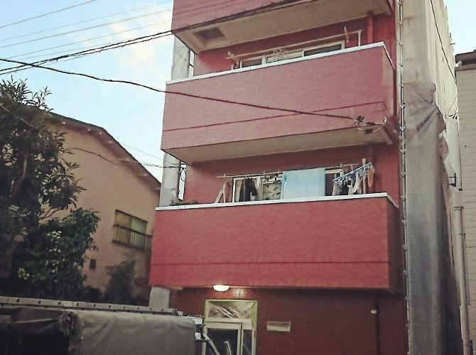 東京都板橋区マンションの鉄部塗装・外壁塗装工事の施工前