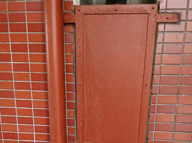 鉄部塗装の施工前