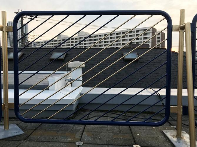 東京都葛飾区住宅屋上の鉄部サビ止め塗装工事の施工後