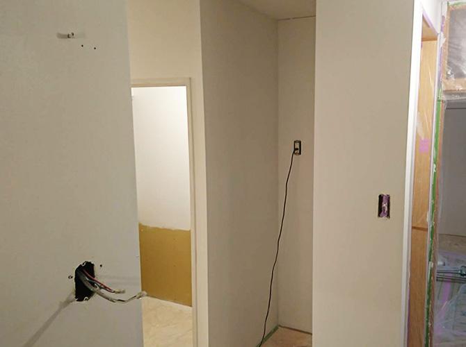 室内の塗装