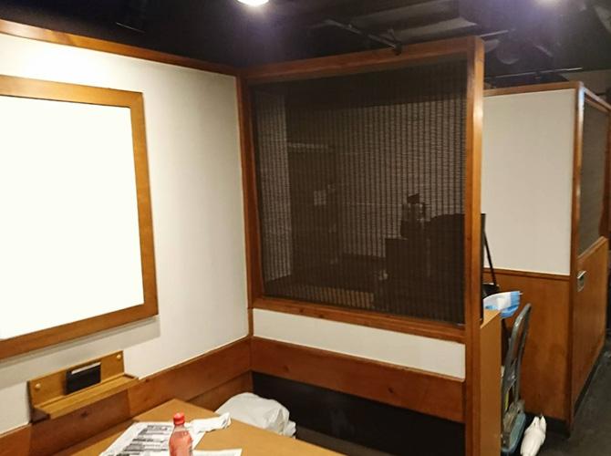 個室の塗装後