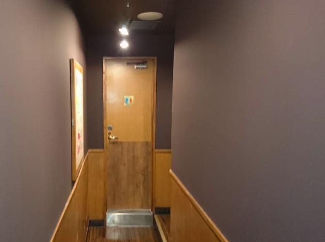 廊下の塗装後