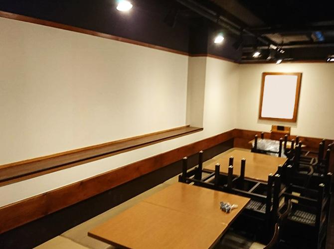 東京都新宿区居酒屋店舗の内部塗装工事の施工後