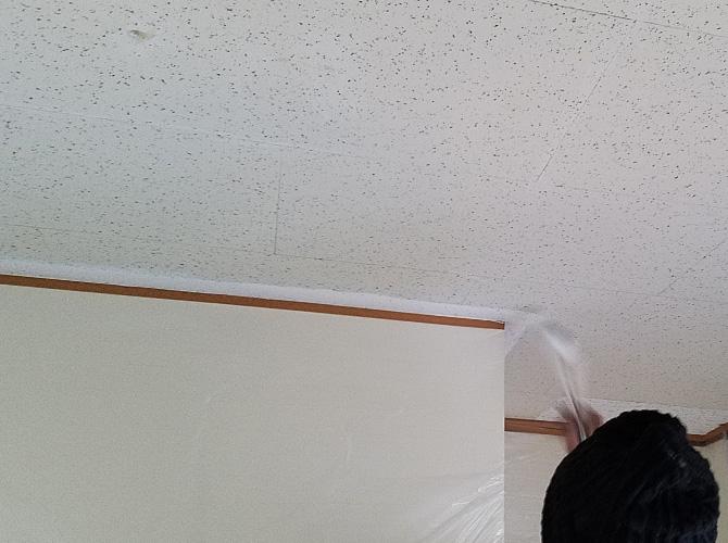 東京都練馬区戸建住宅の天井塗装工事の施工前