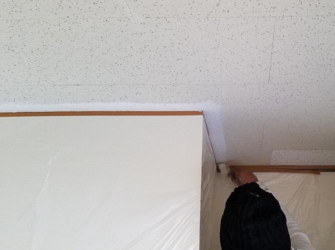 天井塗装のダメ込み