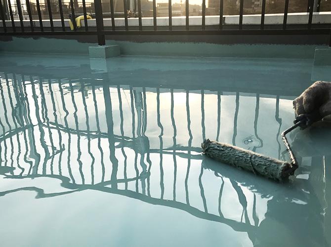 ウレタン防水材の二層目