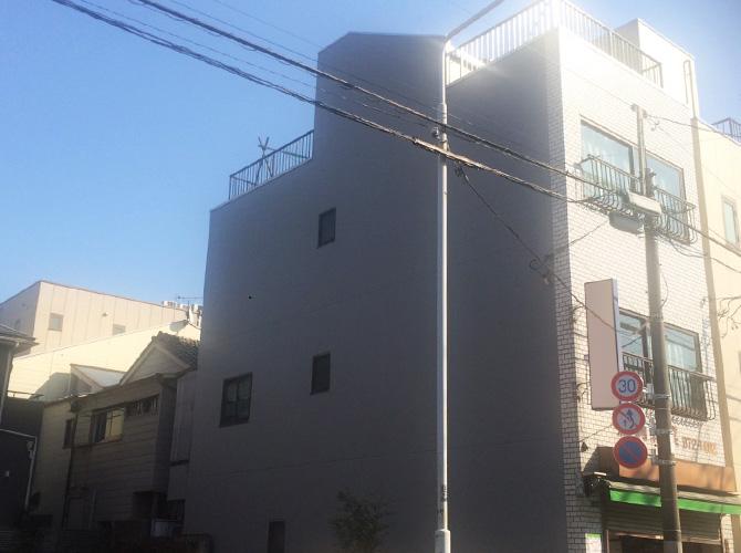 東京都台東区の外壁塗装・屋上防水工事の施工後