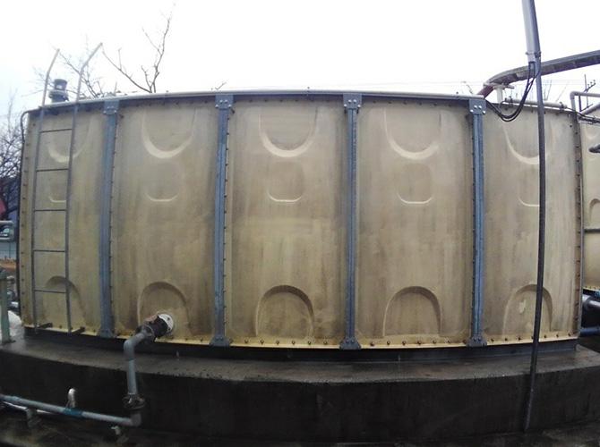 茨城県守谷市工場の外壁塗装・天端塗装工事の施工前