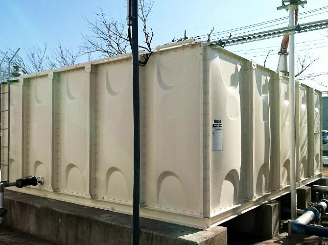茨城県守谷市工場の外壁塗装・天端塗装工事の施工後