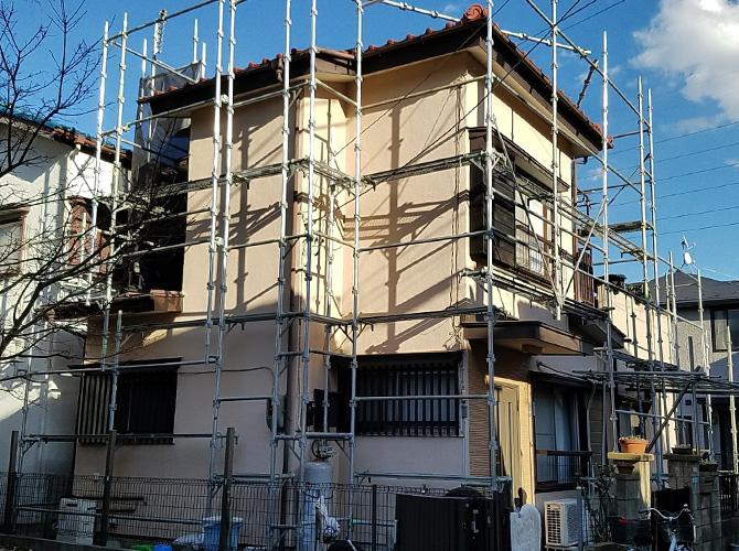 埼玉県草加市の外壁塗装・鉄部塗装工事の施工前
