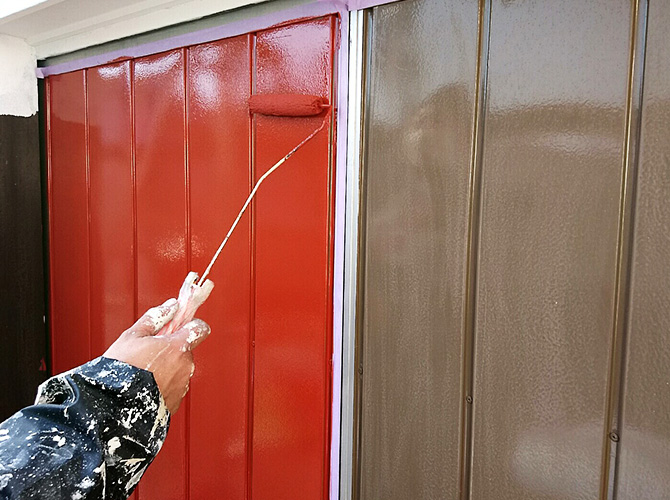 雨戸のサビ止め塗装