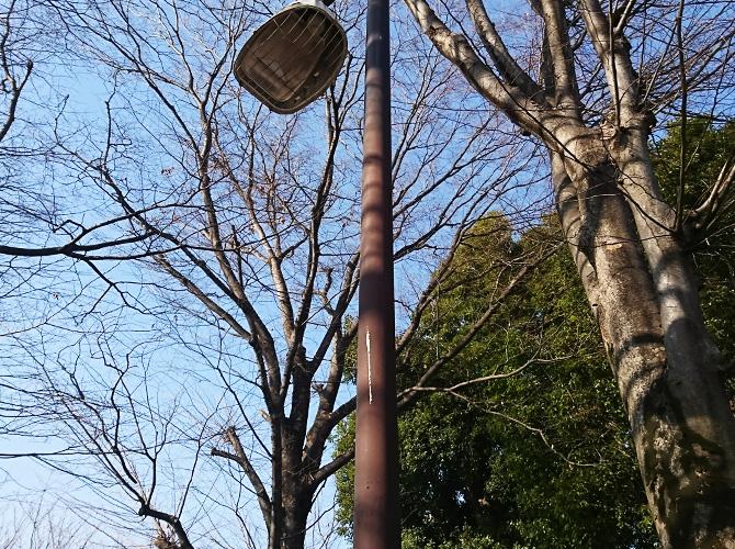 街路灯塗装の施工前