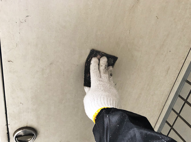 東京都豊島区マンションの鉄部塗装工事の施工前