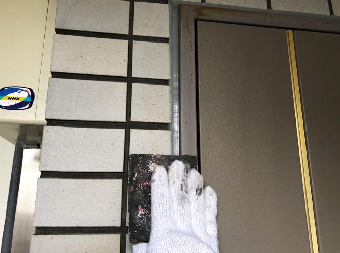 ドア枠のケレン