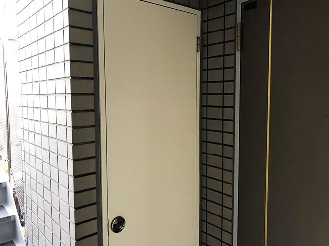 東京都豊島区マンションの鉄部塗装工事の施工後