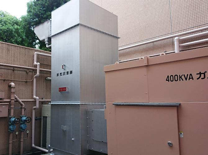 東京都中央区病院鉄部のサビ止め塗装工事の施工後