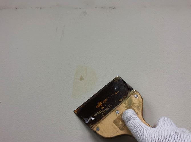 東京都渋谷区学校の内部塗装工事の施工前