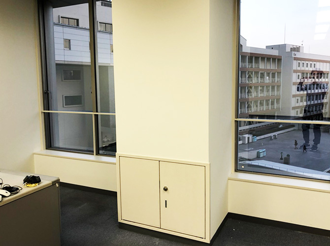 東京都渋谷区学校の内部塗装工事の施工後