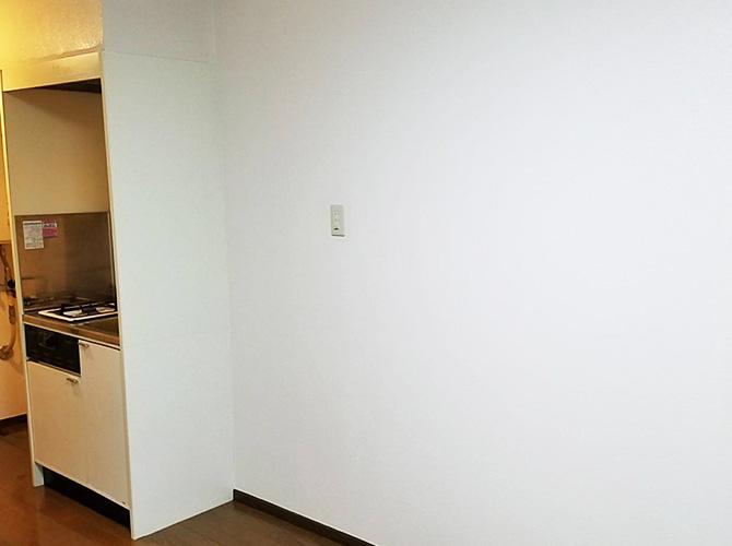 室内の塗装完了後