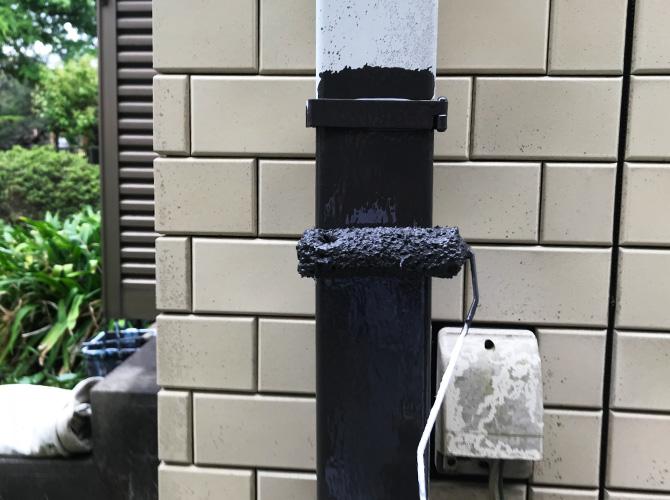 雨樋(竪樋)の塗装