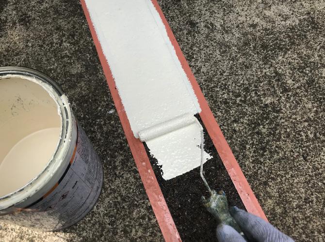 ライン塗装の1回目