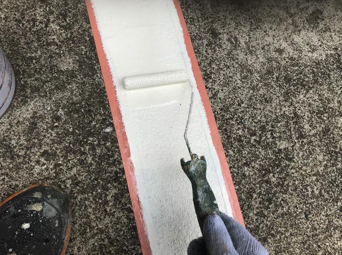 ライン塗装の2回目