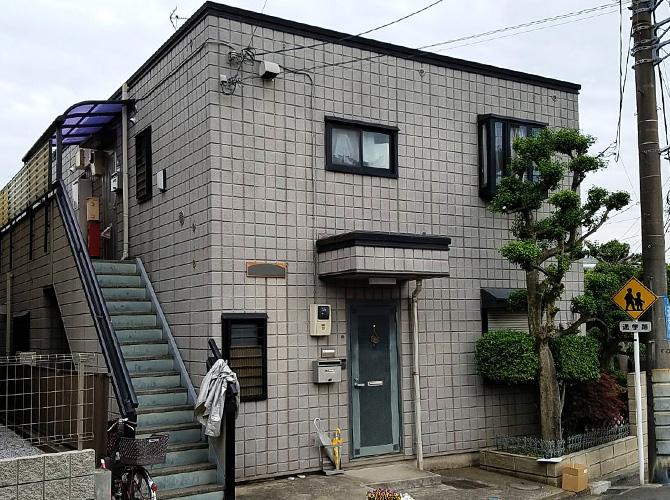 神奈川県横浜市アパートの外壁塗装・屋上防水工事の施工前