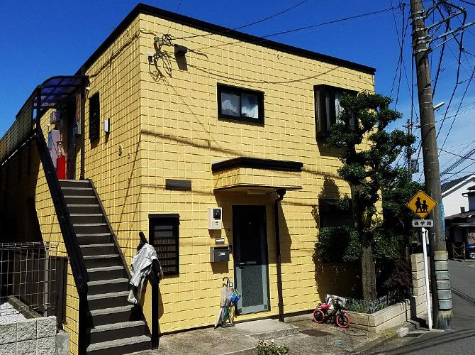 神奈川県横浜市アパートの外壁塗装・屋上防水工事の施工後