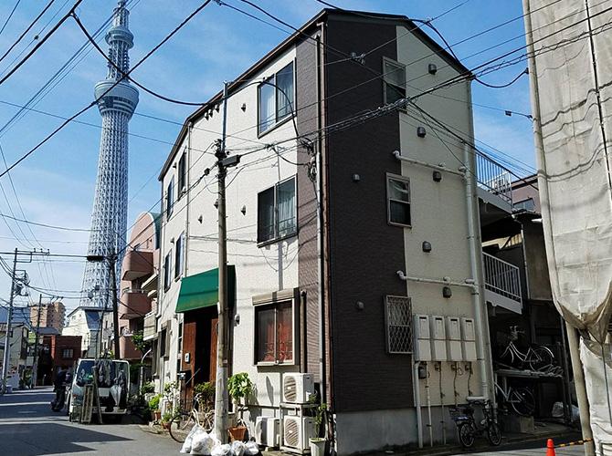 東京都墨田区マンションの外壁塗装・屋根塗装工事の施工前