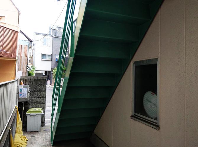 階段塗装の完了後
