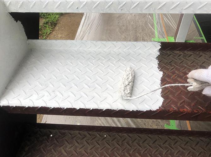踏面のサビ止め塗装