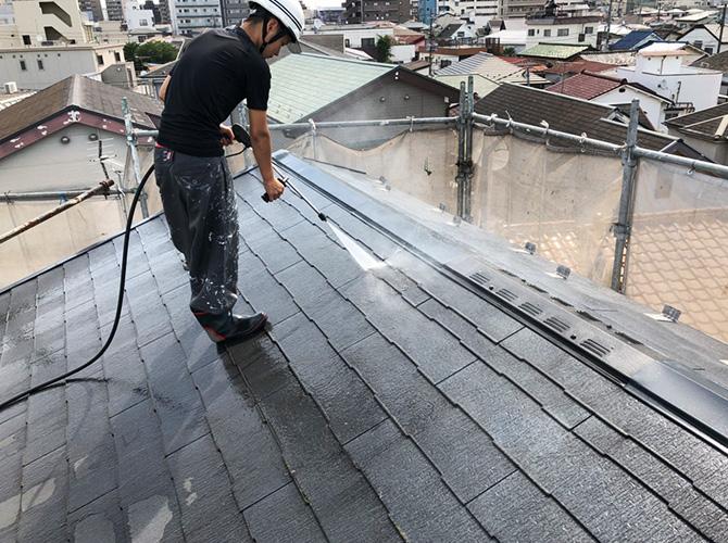 東京都足立区梅田住宅の外壁・屋根塗装工事の施工前