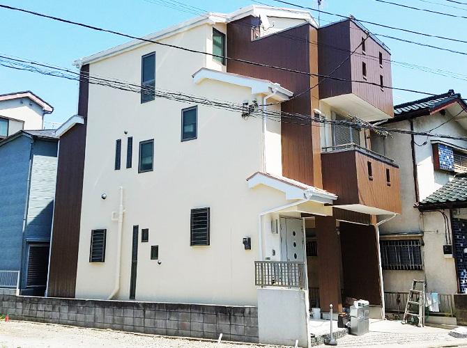 東京都足立区梅田住宅の外壁・屋根塗装工事の施工後