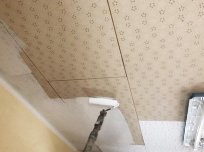 東京都足立区マンションの天井塗装工事の施工前