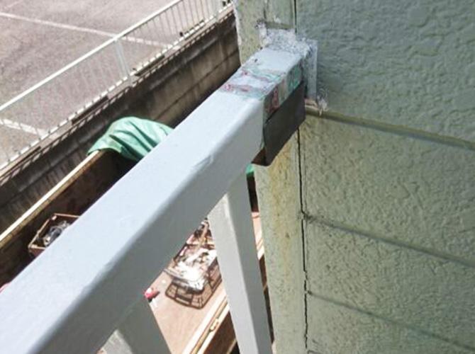 鉄骨階段の補修後