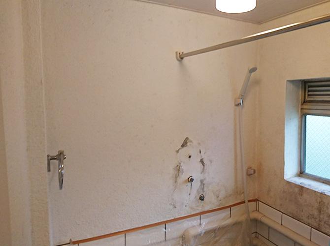 東京都港区マンションのバスルーム塗装工事の施工前