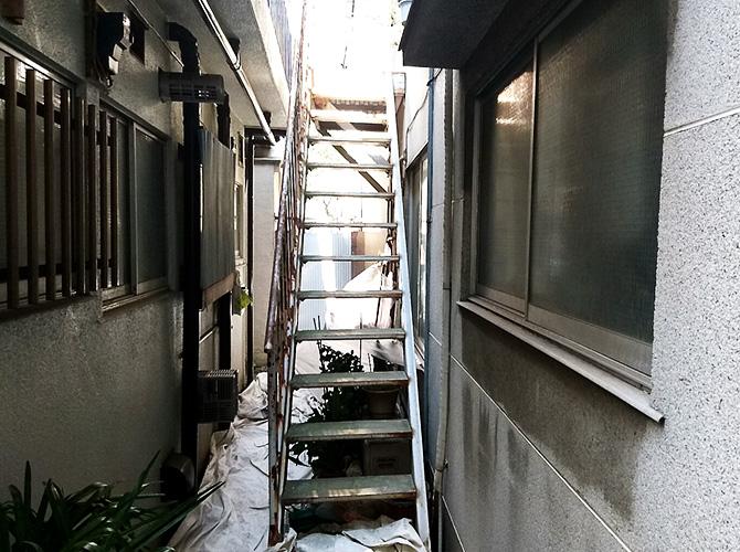 鉄骨階段塗装の施工前