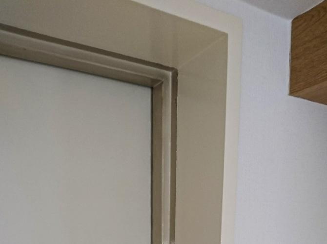 玄関ドアの塗装完了後