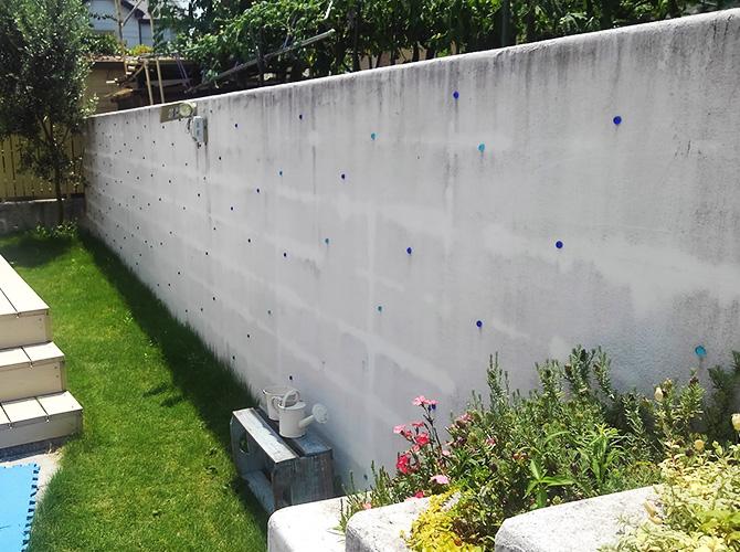 擁壁塗装の施工前